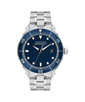 MOVADO Heritage Series3650094 – Calendoplan S Diver Heritage Series 43 mm,  bracelet - Front view