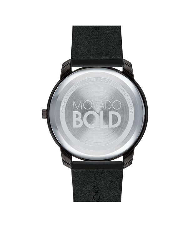 MOVADO Movado BOLD3600587 – 42mm BOLD Thin on Strap - Back view
