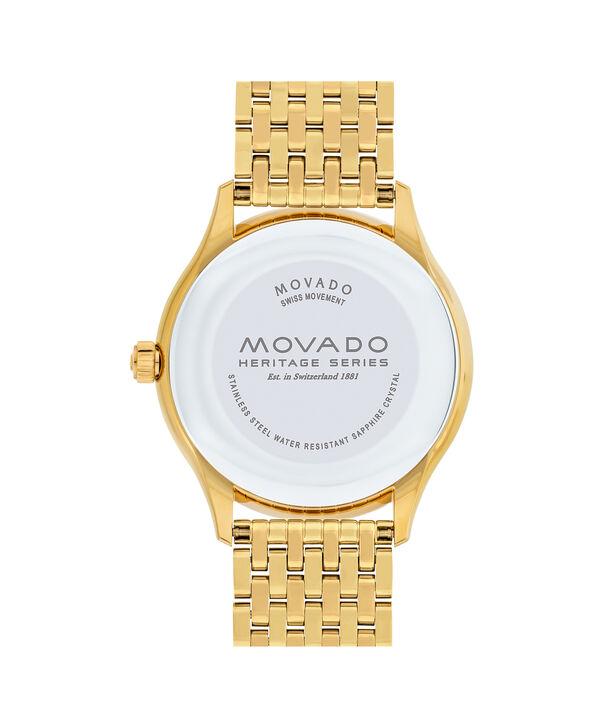 MOVADO Movado Heritage Series3650013 – Montre-bracelet à cadran de 40 mm pour hommes - Back view