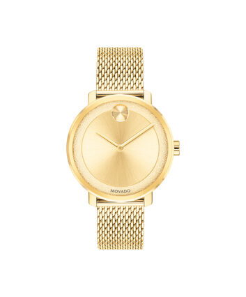 MOVADO BOLD3600580 – 34 mm yellow gold bracelet watch - Front view