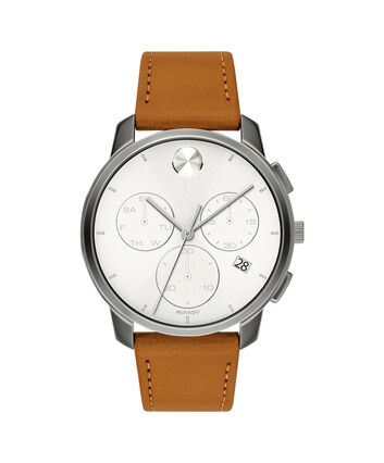 MOVADO Movado BOLD3600631 – 42mm Movado BOLD Thin Chronograph on Strap - Front view