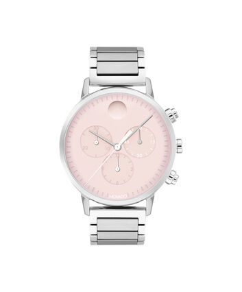 MOVADO Movado Face3640047 – 38mm Movado Face Chronograph on Bracelet - Front view