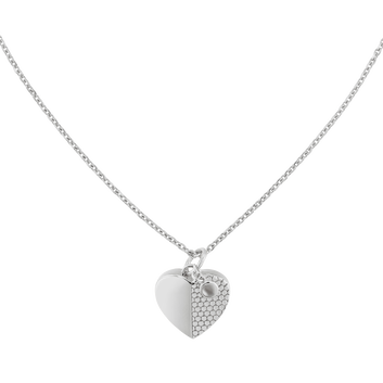 MOVADO Movado Heart Necklace1840027 – Collier argent Movado Heart - Front view