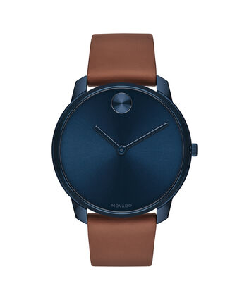MOVADO Movado Bold3600585 – BOLD 42mm mince, cuir - Front view