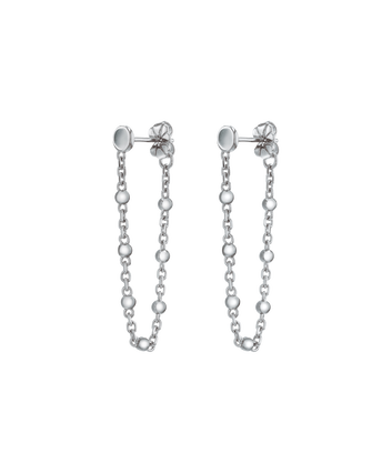 MOVADO Movado Ball & Chain Earrings1840044 – Movado Ball & Chain Silver Earrings - Front view