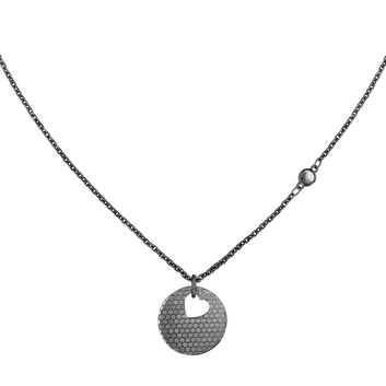 MOVADO Movado Heart on Chain Necklace1840009 – Collier à cœur noir - Front view