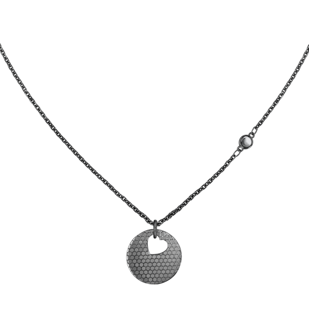 MOVADO Movado Heart on Chain Necklace1840009 – Black Heart Necklace - Front view
