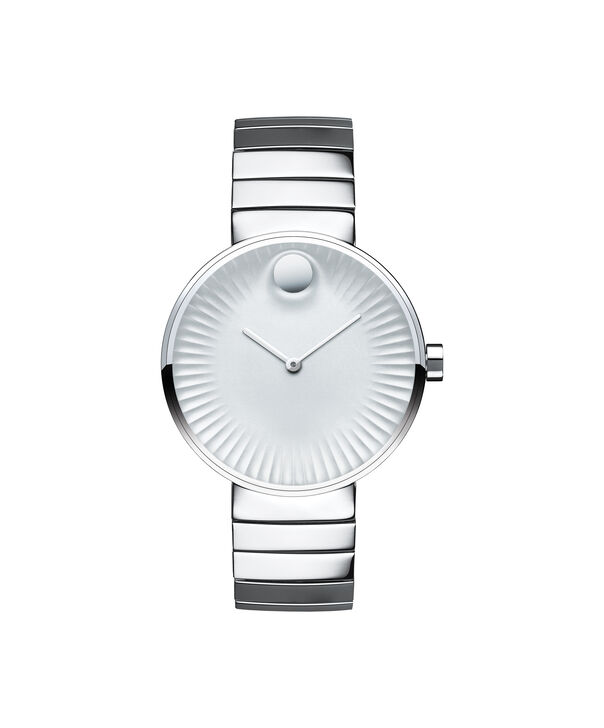 Movado   Movado Edge women's mid-size stainless steel watch with silver-toned dial