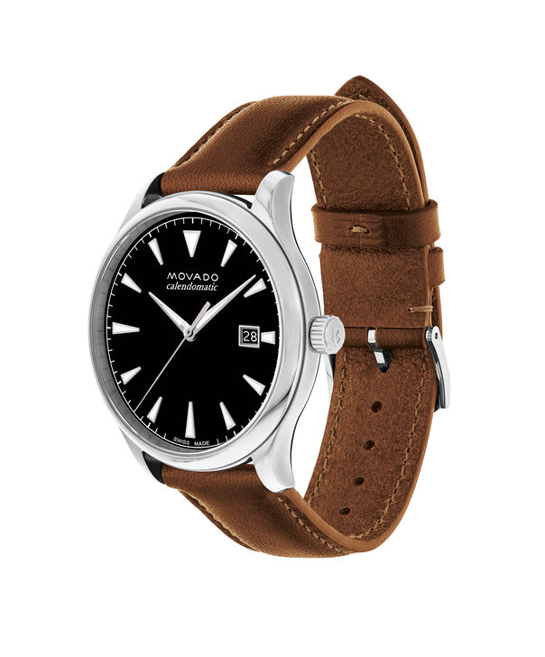 MOVADO Movado Heritage Series3650055 – Men's 40 mm strap watch - Side view