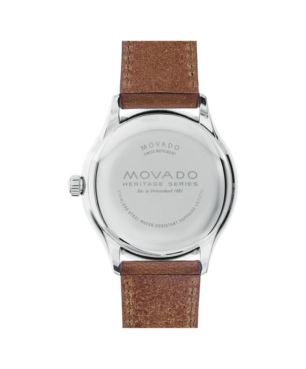 MOVADO Movado Heritage Series3650001 – Men's 40 mm strap watch - Back view