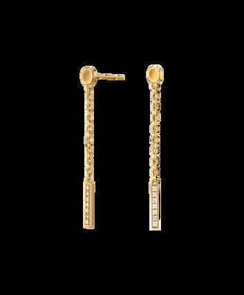 MOVADO Movado Diamond Bar Drop Earrings1840048 – Movado Diamond Bar Gold Drop Earrings - Front view