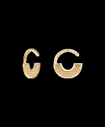MOVADO Movado Textured Hoop Earrings1840040 – Movado Textured Hoop Gold Earrings - Front view