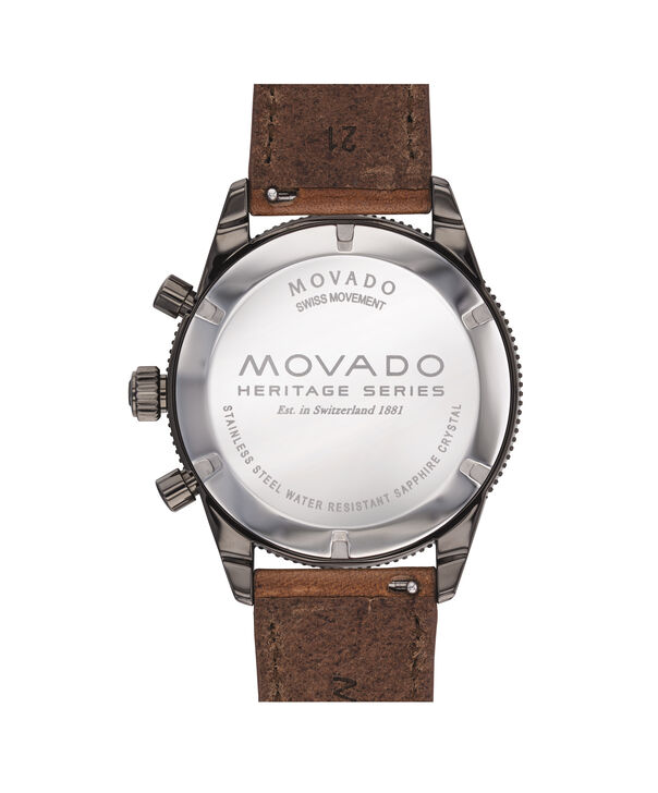 MOVADO Movado Heritage Series3650060 – Chronographe de 42 mm, avec bracelet souple - Back view