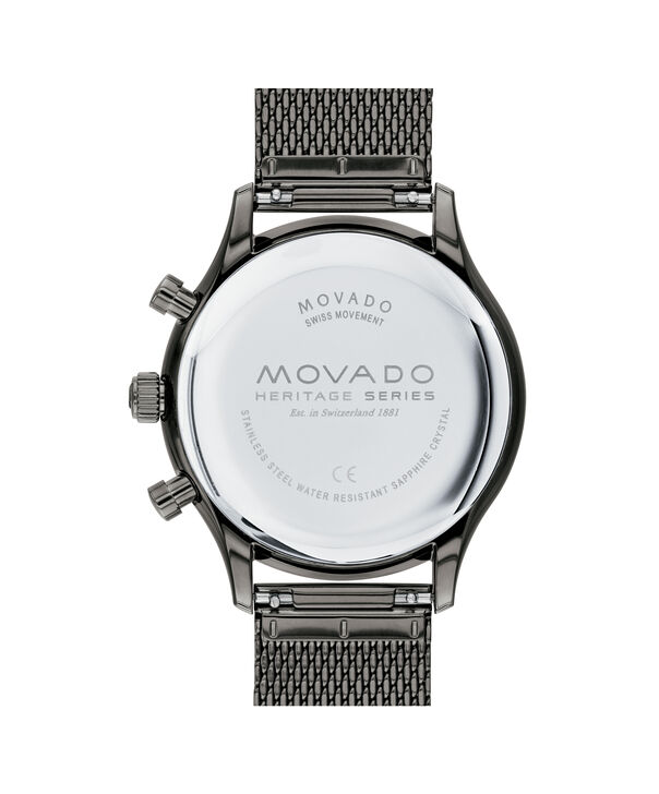 MOVADO Heritage Series3650100 – Chrono Calendoplan Heritage Series 43 mm, brac. mailles - Back view