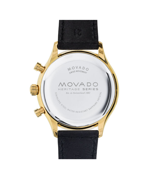 MOVADO Movado Heritage Series3650006 – Men's 43 mm strap chronograph - Back view