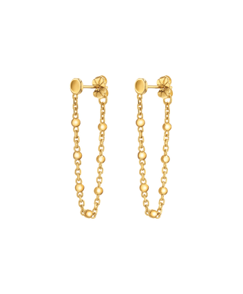 MOVADO Movado Ball & Chain Earrings1840045 – Movado Ball & Chain Gold Earrings - Front view