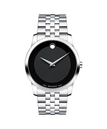 MOVADO Museum Classic0606504 – Montre-bracelet à cadran de 40 mm pour hommes - Front view