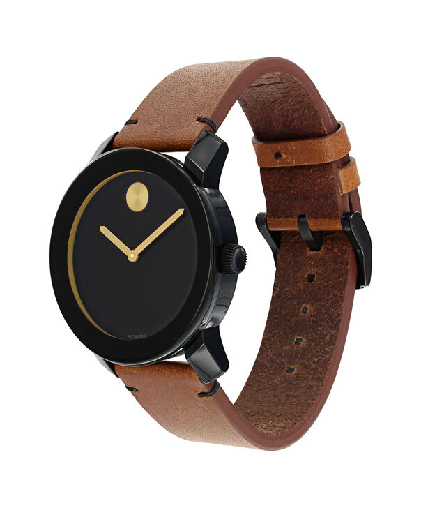 MOVADO Movado BOLD3600305 – Montre de 42 mm avec bracelet en cuir Colorado - Side view