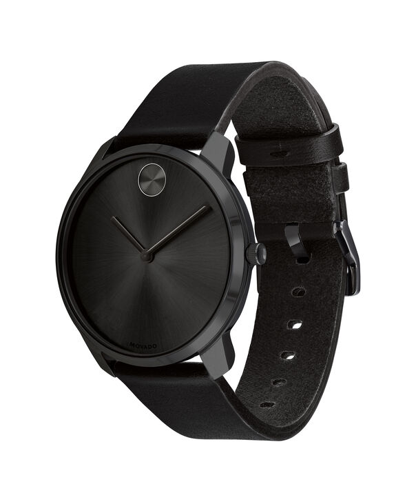 MOVADO Movado BOLD3600587 – 42mm BOLD Thin on Strap - Side view