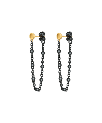 MOVADO Movado Ball & Chain Earrings1840046 – Boucles noires Movado Ball & Chain - Front view