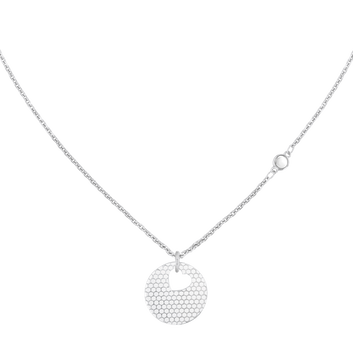 MOVADO Movado Heart on Chain Necklace1840007 – Collier à cœur argent - Front view