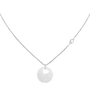 MOVADO Movado Heart on Chain Necklace1840007 – Silver Heart Necklace - Front view