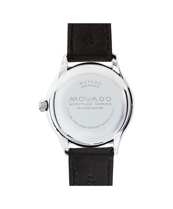 MOVADO Movado Heritage Series3650004 – Men's 40 mm strap watch - Back view