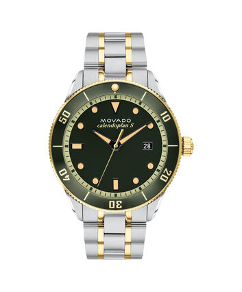 MOVADO Heritage Series3650096 – 43mm Heritage Series Calendoplan S Diver on Bracelet - Front view