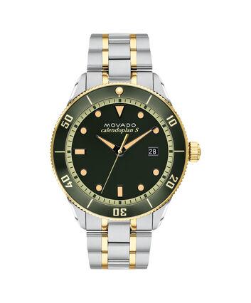 MOVADO Heritage Series3650096 – Calendoplan S Diver Heritage Series 43 mm,  bracelet - Front view