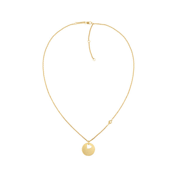 MOVADO Movado Heart on Chain Necklace1840008 – Gold Heart Necklace - Side view