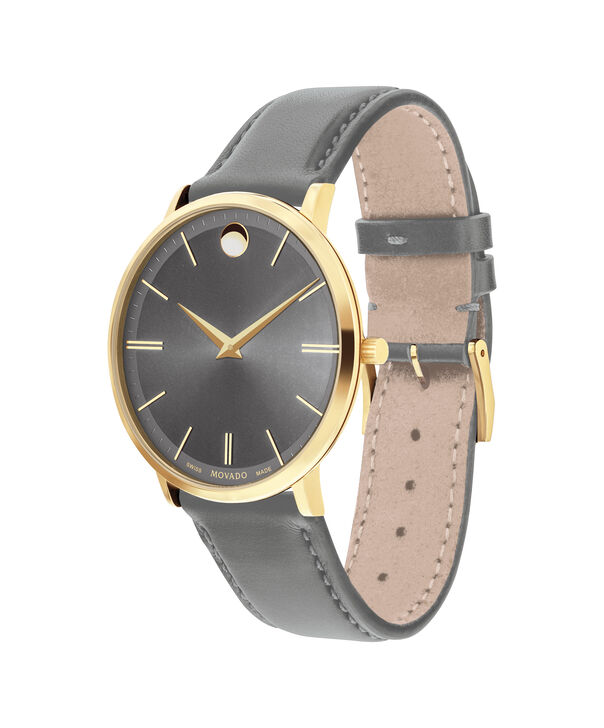 MOVADO Movado Ultra Slim0607376 – Movado Ultra Slim 40mm Leather Strap - Side view