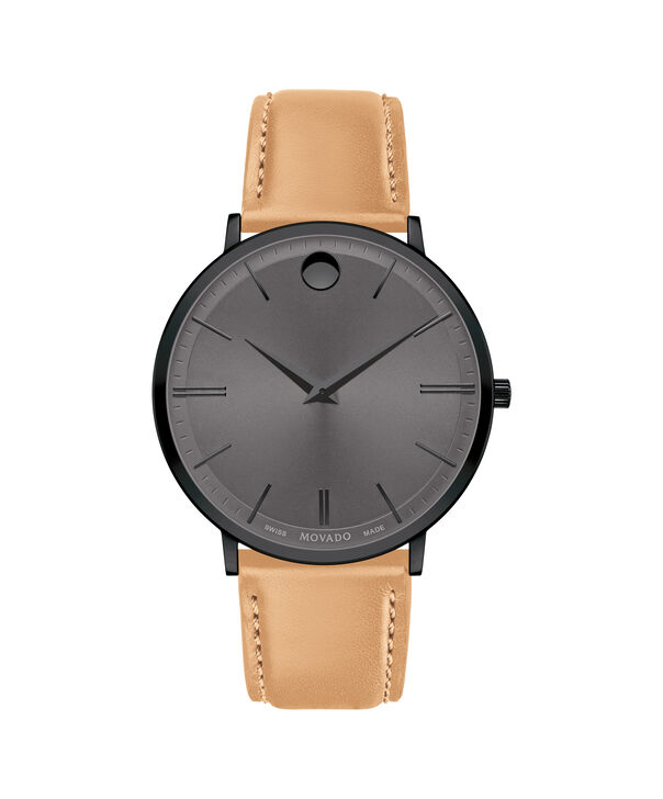 MOVADO Movado Ultra Slim0607378 – Movado Ultra Slim 40mm Leather Strap - Front view
