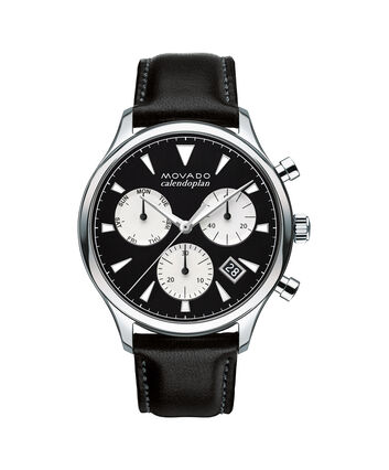 MOVADO Movado Heritage Series3650005 – Men's 43 mm strap chronograph - Front view