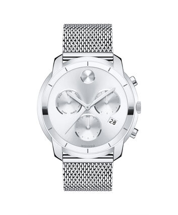 MOVADO Movado BOLD3600371 – Chono de 44 mm avec bracelet à maillons plats - Front view