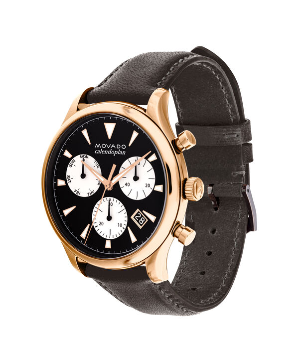 MOVADO Movado Heritage Series3650021 – Men's 43 mm strap chronograph - Side view