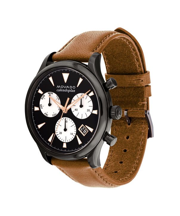MOVADO Movado Heritage Series3650022 – Men's 43 mm strap chronograph - Side view