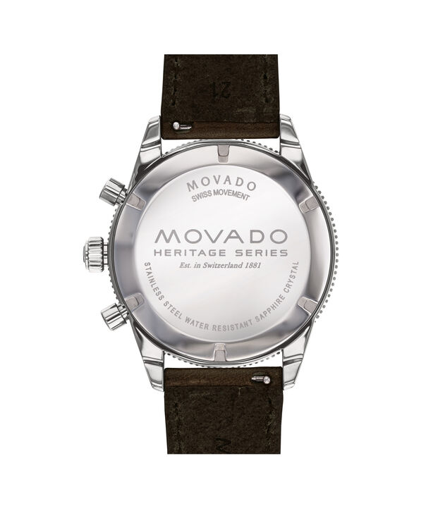MOVADO Movado Heritage Series3650061 – Chronographe de 42 mm, avec bracelet souple - Back view