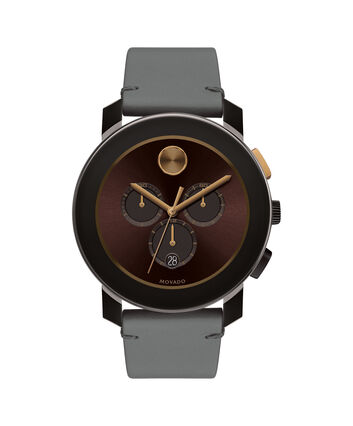 MOVADO Movado BOLD3600445 – 43.5mm Colorado leather strap watch - Front view