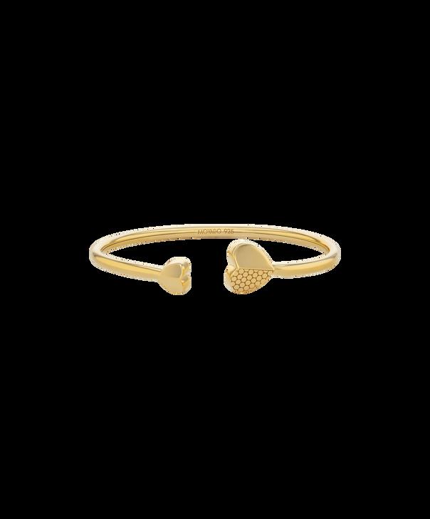 MOVADO Movado Heart Bracelet1840025 – Movado Heart Gold Bangle - Front view