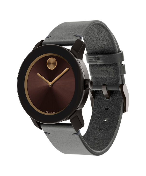 MOVADO Movado BOLD3600455 – Montre de 42 mm avec bracelet en cuir Colorado - Side view