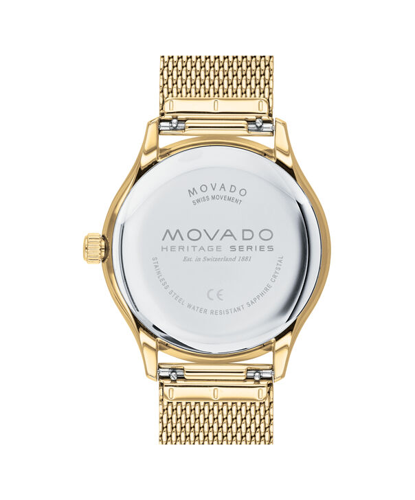 MOVADO Heritage Series3650099 – Calendoplan Heritage Series  40 mm, 3 aig. Mailles - Back view