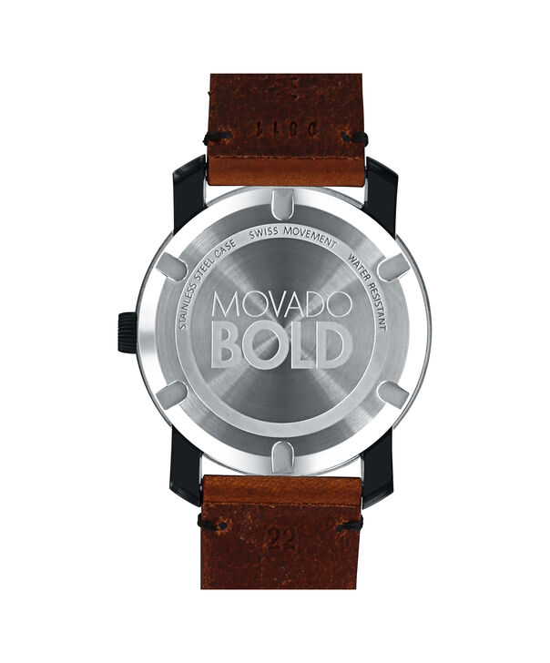 MOVADO Movado BOLD3600305 – Montre de 42 mm avec bracelet en cuir Colorado - Back view