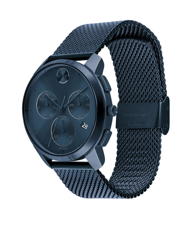 MOVADO Movado BOLD3600633 – 42mm Movado BOLD Thin Chronograph on Mesh - Side view