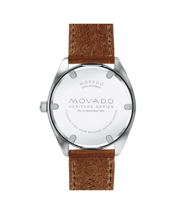 MOVADO Movado Heritage Series3650057 – Men's 39 mm strap watch - Back view