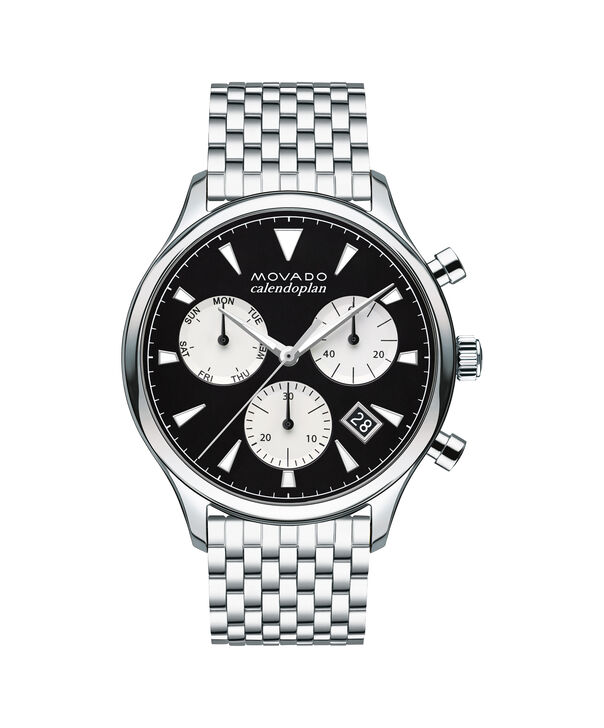 MOVADO Movado Heritage Series3650014 – Men's 43 mm bracelet chronograph - Front view
