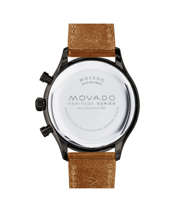 MOVADO Movado Heritage Series3650022 – Men's 43 mm strap chronograph - Back view