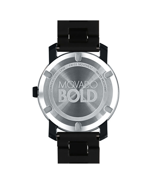 MOVADO Movado BOLD3600099 – 42 mm TR90 bracelet watch - Back view