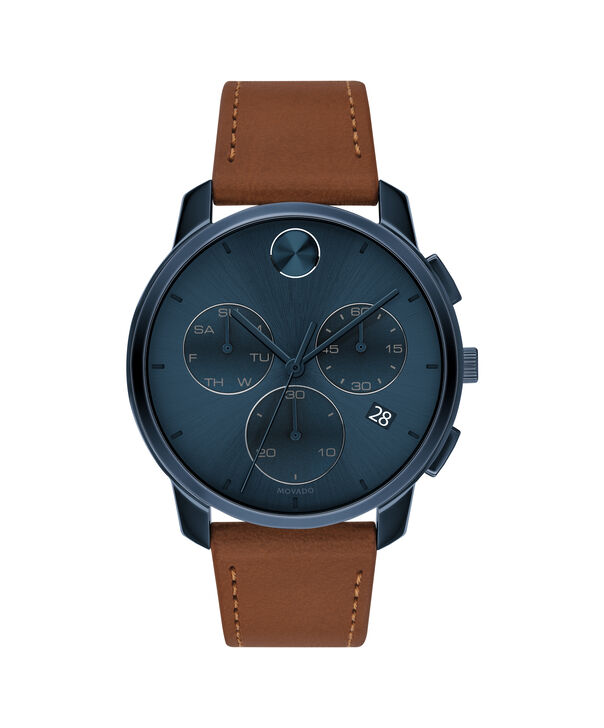 MOVADO Movado BOLD3600630 – 42mm Movado BOLD Thin Chronograph on Strap - Front view