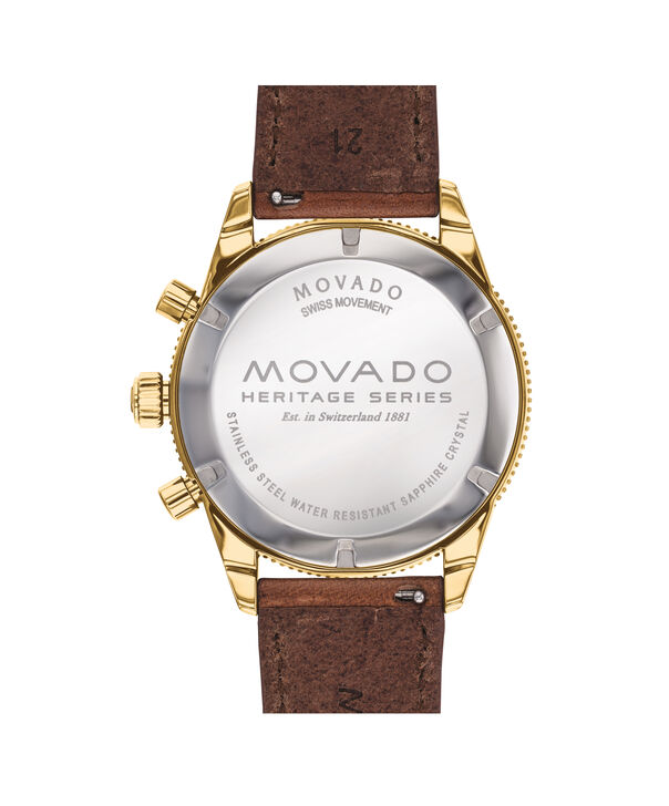 MOVADO Movado Heritage Series3650062 – Chronographe de 42 mm, avec bracelet souple - Back view