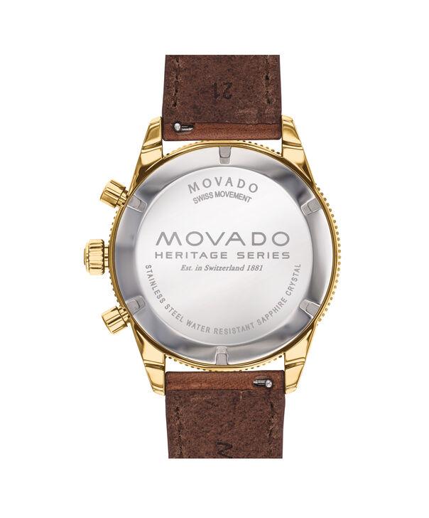 MOVADO Movado Heritage Series3650062 – Chronographe de 42 mm, avec bracelet souple - Back view